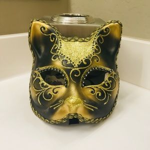 Gold Cat Italian Mask - La Maschera Del Galeone